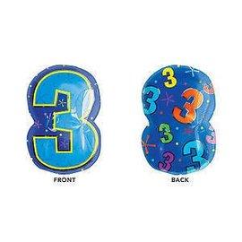 "Foil Balloon - #3 Shape - 20""x13"""
