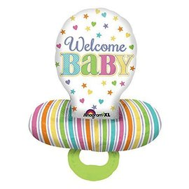 """Foil Balloon - Welcome Baby Pacifier - 22""""x29"""""""