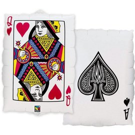 Foil Balloon - Queen of Hearts and Ace of Spades - 30""