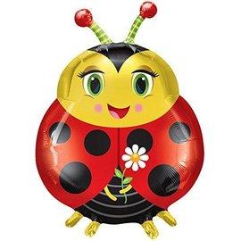 "Foil Balloon - Cute Ladybug - 27""x20"""