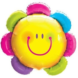 Foil Balloon - Smiling Colorful Flower - 32""