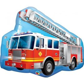 Foil Balloon - Fire Truck - 36""