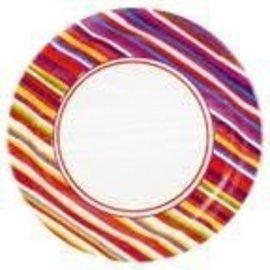 Plates-LN-Hot Stripes-8pkg-Paper (Discontinued)