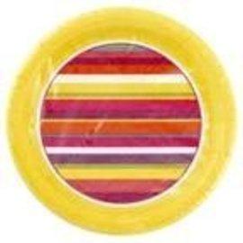 Plates-BEV-Hot Stripes-8pkg-Paper (Discontinued)