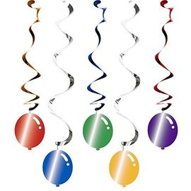 Swirl Decor-Balloon Blast-30''/39''-5pk