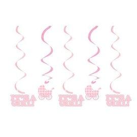Swirl Decor-Gingham Girl-19.25''/25.25''-5pk