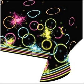 Table Cover-Glow Party AOP-Plastic-54''x102'' - Discontinued