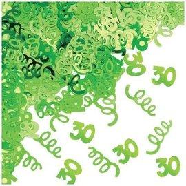 Confetti-Foil-Green Age 30 Swirls-1pkg-14g