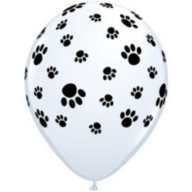 "Latex Balloon-Paw Prints A Round-1pkg-11"""
