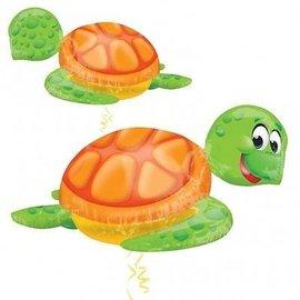 "Foil Balloon - Turtle - 31"" X 20"""