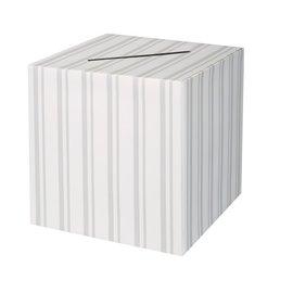 "Card Box - Wedding Stripes - 12"" X 12"" x 12"""