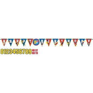 Jumbo Letter Banner - DC Superhero Girls - Add an Age Customizable