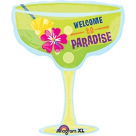 Foil Balloon-Welcome to Paradise Margarita