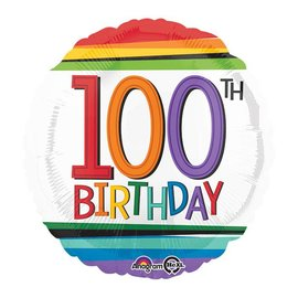 "Foil Balloon - 100th Birthday -18"""