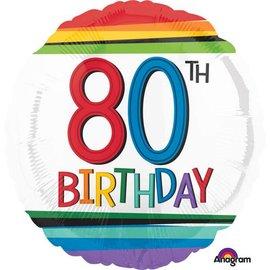 "Foil Balloon - 80th Birthday 18"""