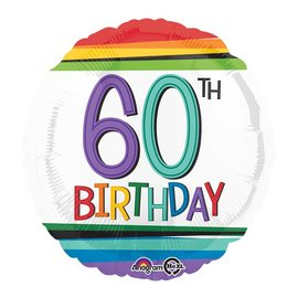 Foil Balloon - 60th Birthday 18""