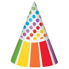 Hat - Paper Rainbow - 8 PK