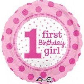 Foil Balloon-1st Birthday Girl