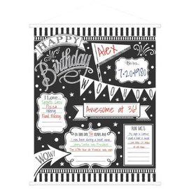 Milestone Sign - Chalkboard Happy Birthday - 1 Pc