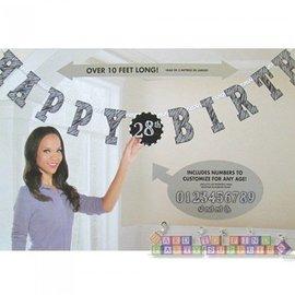 "Jumbo Letter Banner Kit -""Happy Birthday"" Add An Age (Over 10 Feet Long!)"