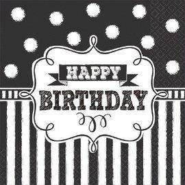 Napkins-BEV-Chalkboard Birthday-16pk-2ply
