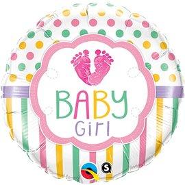 "Foil Balloon-Baby Girl 18"""