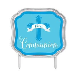 Cake Topper - First Communion (Blue)