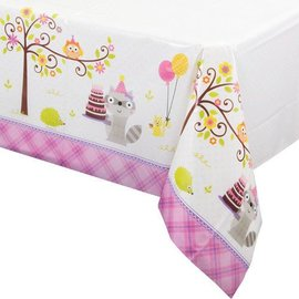 Tablecover - Happi woodland - Girl-54''x102''-Plastic