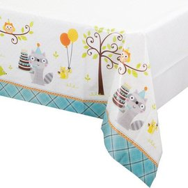 Tablecover - Happi Woodland - Boy-54''x102''-Plastic