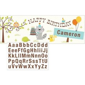 Giant Party Banner - Happi woodland - Blue