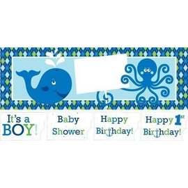 Giant Party Banner - Ocean Preppy Boy