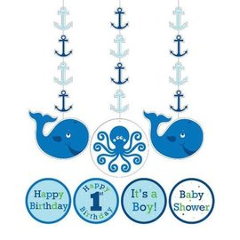 Hanging Cutouts Ocean Preppy Boy-36''-3pk