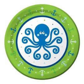 Plates-Bev-Ocean Preppy Boy-8pk-Paper