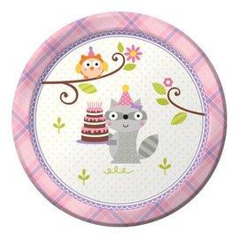 Plates Bev - Happi woodland - Girl