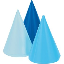 Hat - Blue (3 Shades) Mini Cone