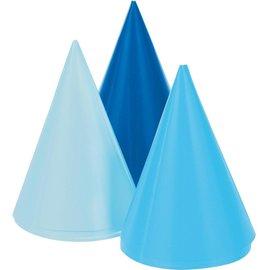 Hat - Blue (3 Shades) Mini Cone
