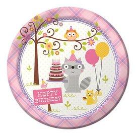 Plates LN - Happi Woodland - Pink