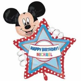 Foil Balloon - Mickey Mouse Personalize 30""