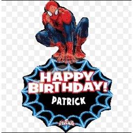 "Foil Balloon - Spiderman Personalize 33"""