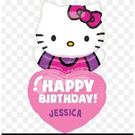 "Foil Balloon - Hello Kitty Personalize 32"""