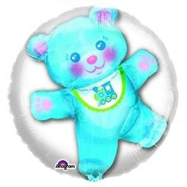Foil Balloon - Blue Baby Bear Insiders 24""