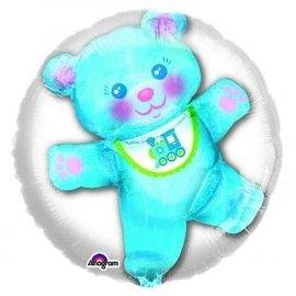 "Foil Balloon - Blue Baby Bear Insiders 24"""
