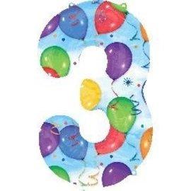 """Foil Balloon - Balloon 3 34"""""""