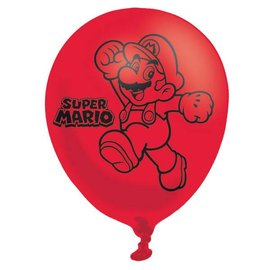 Latex Balloons - Super Mario - 6pk