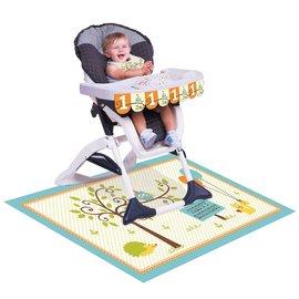 High chair kit - 1st Birthday - Happi woodland - Boy