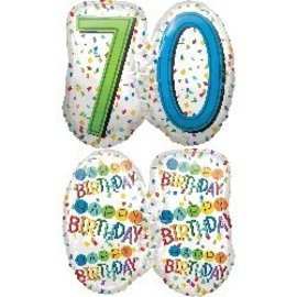 Foil Balloons - Happy Birthday - 70-25''x23''