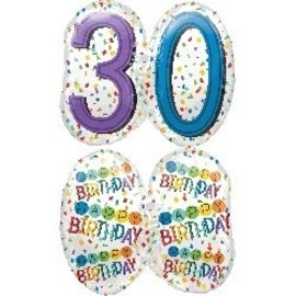 Foil Balloons - Happy Birthday - 30