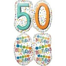 Foil Balloons - Happy Birthday - 50