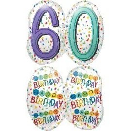 Foil Balloons - Happy Birthday - 60