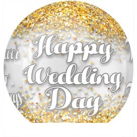 "Orbz Balloon - 4-Sided Wedding Day - 15""x16"""